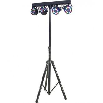 DJLIGHT80LED IBIZA STOJALO Z LED REFLEKTORJI