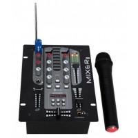 DJM150BT-VHF, DJ mixer z VHF mikrofonom, IBIZA SOUND