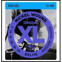 Strune za električno kitaro D'Addario EXL115 11-49