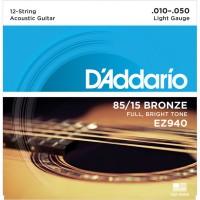 Strune za 12 str. akustično kitaro D'Addario EZ940