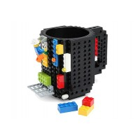 SKODELICA BUILD-ON-BRICK MUG 350ml ČRNA